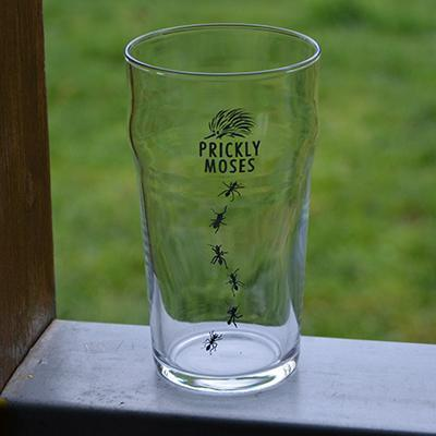 Pint Glass Prickly Moses