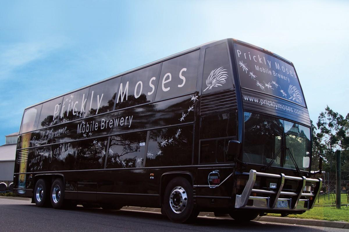 prickly moses brewery bus